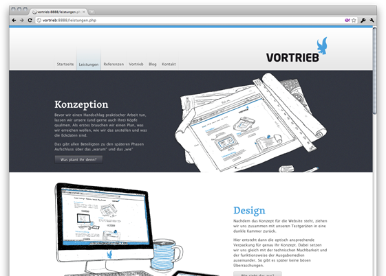 Screenshot Vortrieb 3.0