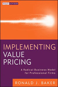 Titelseite Ronald Baker – Implementing Value Pricing