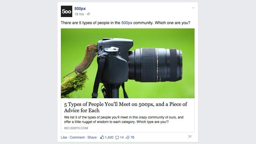 Screenshot einer Artikelvorschau bei Facebook