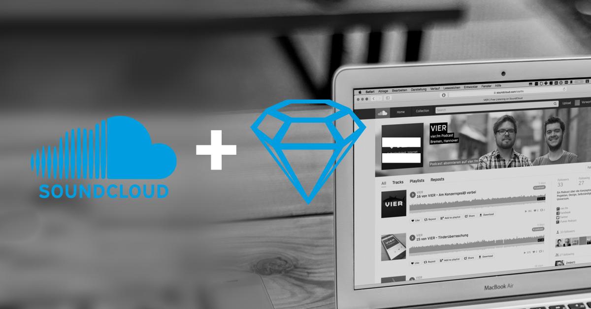 Soundcloud Logo plus Sketch Logo equals awesome header image